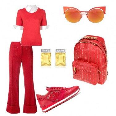 Outfit Di rosso mi voglio vestire