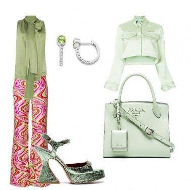 Outfit Tonalita verde acido