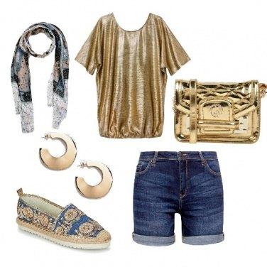 Outfit CMPS Oro per il giorno