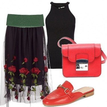 Outfit Rose sul tulle