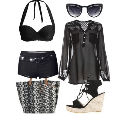 Outfit Pantera nera on the beach!