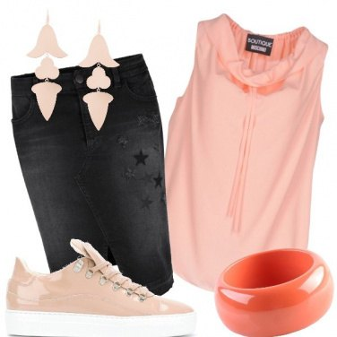 Outfit Con le sneakers rosa