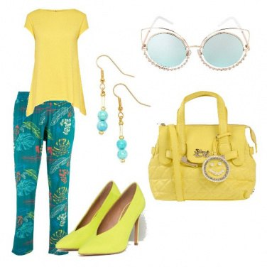 Outfit Verde acqua e lime