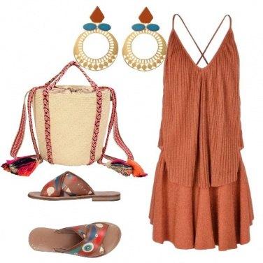 Outfit Con il copricostume ruggine