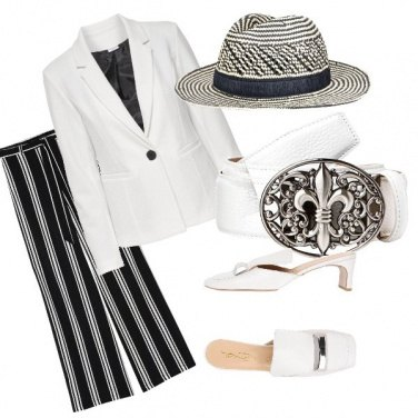 Outfit Il Panama rigato
