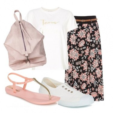 Outfit Fiori rosa