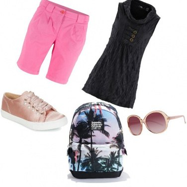 Outfit Pink Glasses