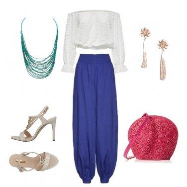Outfit Borsa e pantaloni briosi