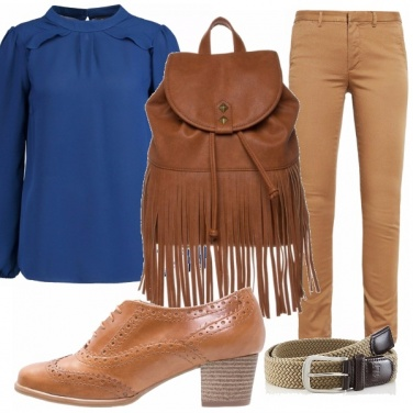 Outfit Marron glacè
