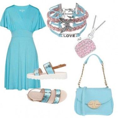 Outfit Celeste cristallino