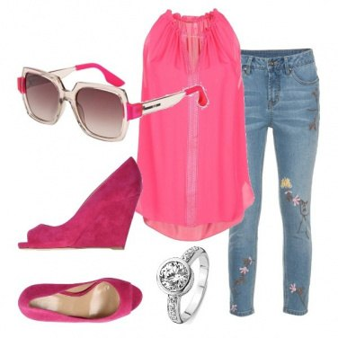 Outfit Fashion in fucsia