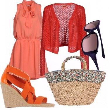 Outfit Paglia e arancio...