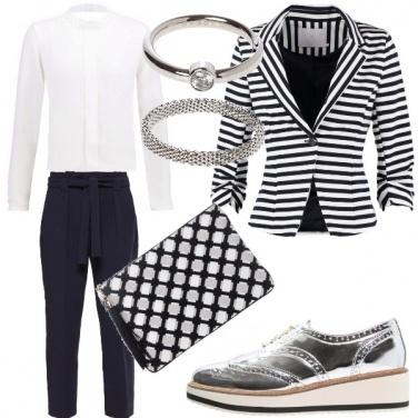 Outfit Policromia di bianco e nero