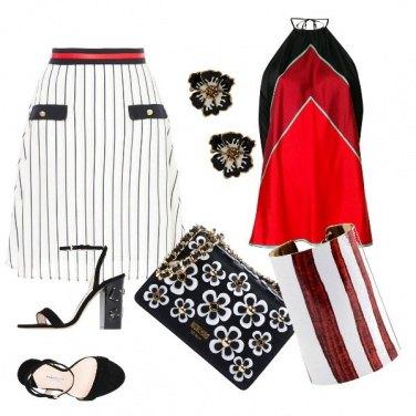 Outfit Righe eleganti