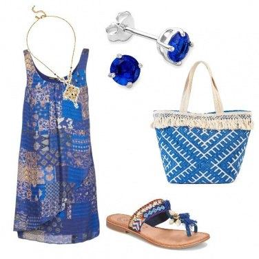 Outfit Blu per un party estivo