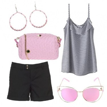 Outfit Pink sun glasses