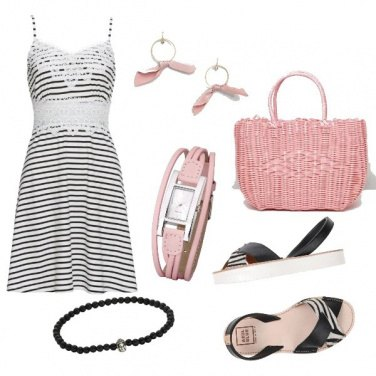 Outfit CMPS Accessori rosa baby