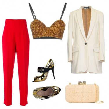 Outfit Gold and red