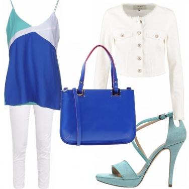 Outfit Blu e verde acqua