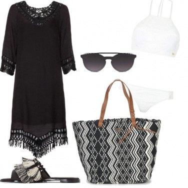 Outfit Spiaggia in bianco e nero