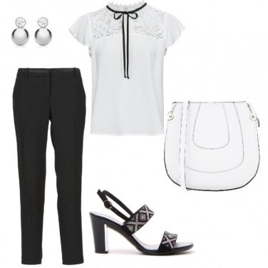 Outfit Pizzo col fiocco