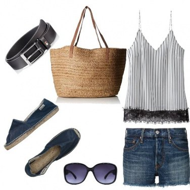 Outfit Basic, shopping a Saint Tropez