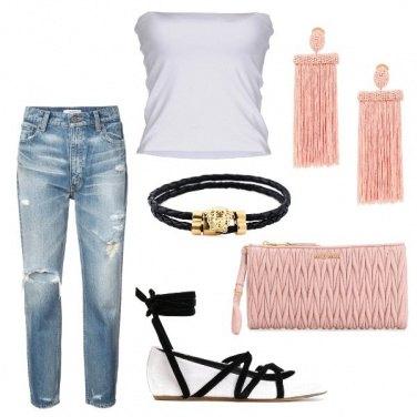 Outfit Il rosa pratico/sportivo