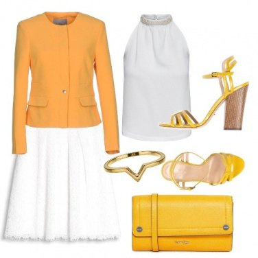 Outfit Bianco e giallo