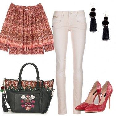 Outfit La camicia folk