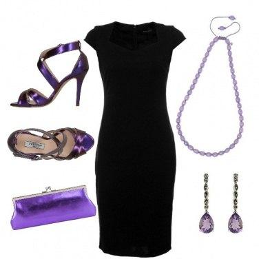 Outfit Viola eleganza