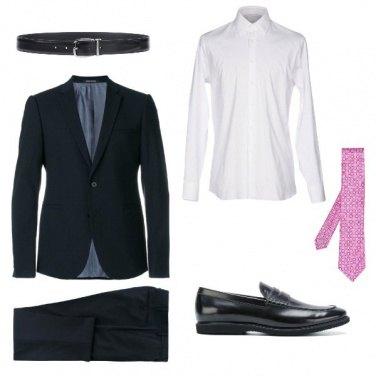 Outfit La cravatta rosa