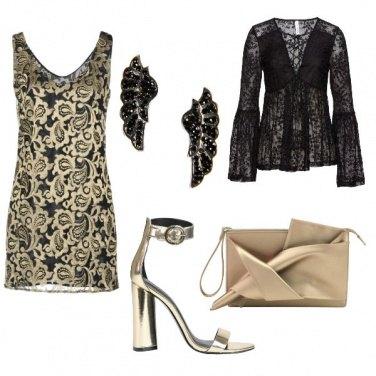 Outfit Chic nero e oro