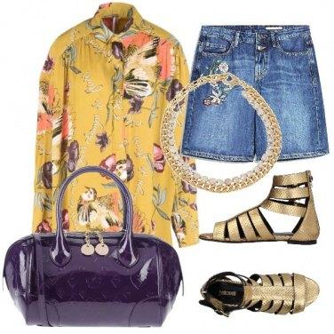 Outfit Viola e oro