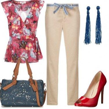 Outfit Tacco alto e pantaloni