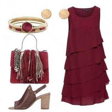 Outfit Il vestito con volants