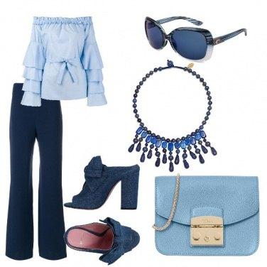 Outfit Celeste e blue