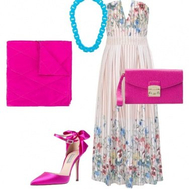 Outfit Pink and light blue flowers