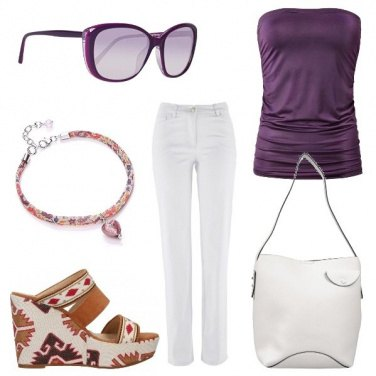 Outfit Viola d\'estate