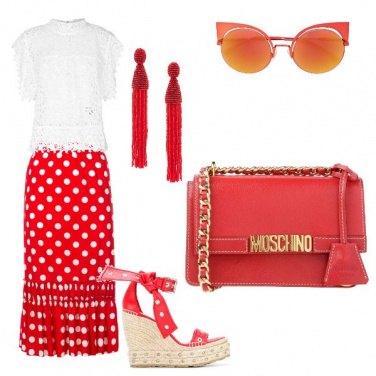 Outfit Pois e rosso