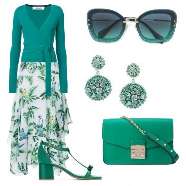 Outfit Riunione in verde