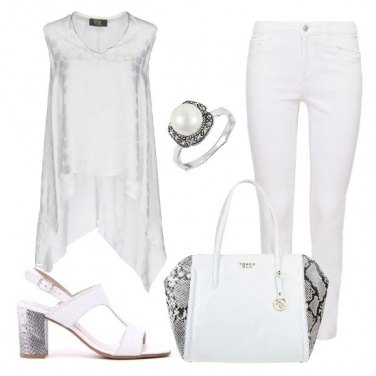 Outfit White and animalier