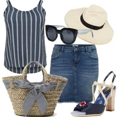 Outfit Stripes marine