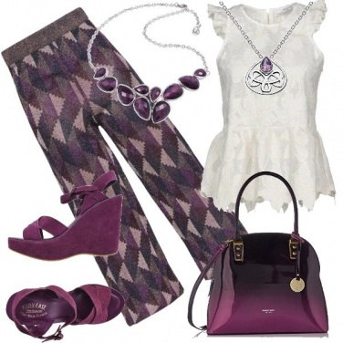 Outfit Malva e viola