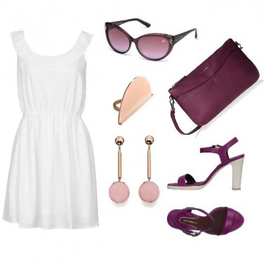 Outfit Sui toni del viola