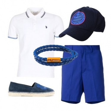 Outfit Accessorio blu cobalto