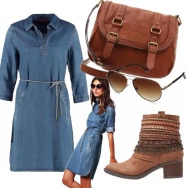 Outfit Denim & cuoio per l\'autunno
