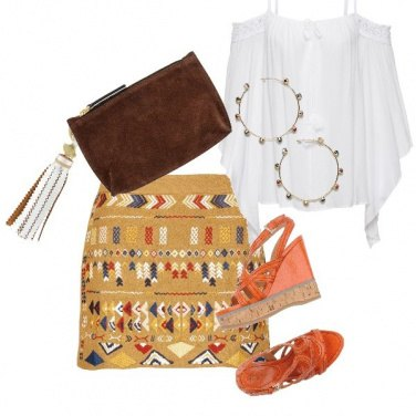Outfit Bohoo azteco style