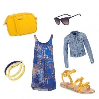 Outfit Estate giallo/blu