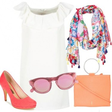 Outfit Rosa aranciato