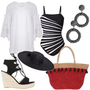 Outfit Bianco nero da spiaggia